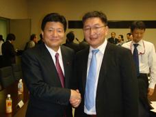 ソドバートル・モンゴル産業通商副大臣と